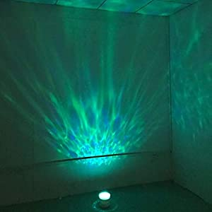 Nursery Night Light Projector with Music Sound Sound Therapy for Baby Kids Sleep, Remote Ocean Wave Rest Nightlight Projection (White)