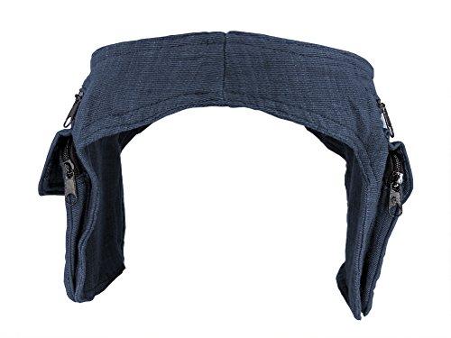 Hüfttasche blau - zwei Taschen - Baumwolle - mit Magnetverschluss