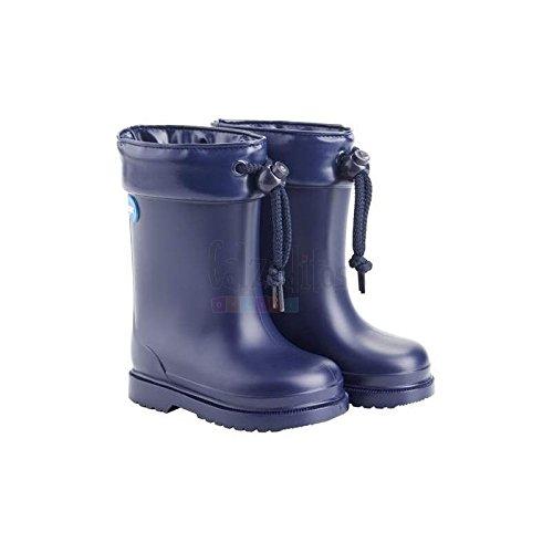 36e01bf35 Botas de Agua para niño o niña en Azul Marino con Borreguito