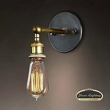yuewei®1 Brass Luce epoca lampadari vintage industriale luce del ...