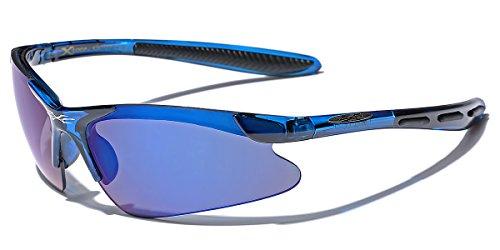 Children AGE 3-12 Half Frame Sports Cycling Baseball Sunglasses (Blue, - Sunglasses X Loop Sports