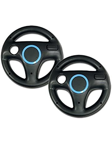 Mario Kart Racing Wheel for Nintendo Wii, 2 Sets Black Color Bundle