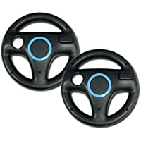 Mario Kart Racing Wheel for Nintendo Wii, 2 Sets Black...