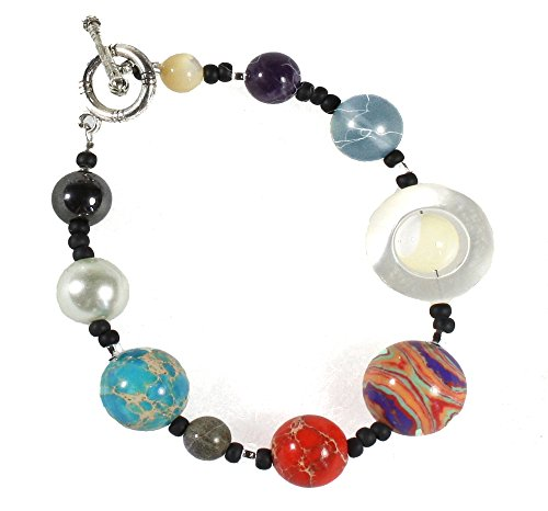 The Nine Planets Bracelet, A Bracelet Of The Solar System, 7 Inches Size Small