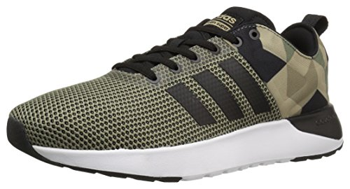 adidas NEO Men's Cloudfoam Super Racer Running Shoe Trace Green/Black/Khaki 8 M US