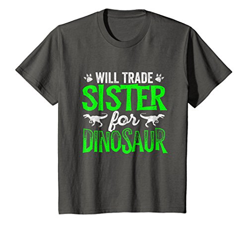 Kids Will Trade Sister For Dinosaur Family Matching T-Shirts 4 Asphalt
