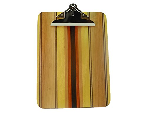 Laminated Striped Hardwood Clipboard ()