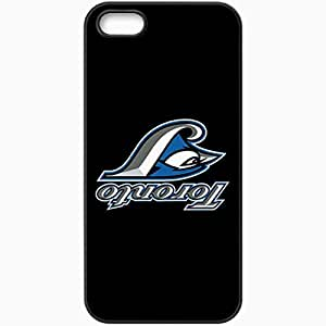Personalized iPhone 5 5S Cell phone Case/Cover Skin Baseball Toronto Blue Jays 4 Sport Black