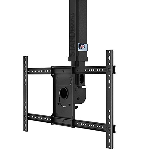 North Bayou Ceiling TV Mount Height Adjustable Fits 32″ – 60 Inch LCD LED OLED Flat Panel TV Screens T3260 Black