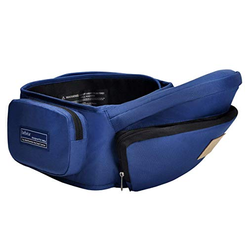 Bebamour Lightweight Baby Toddler Hip Seat Carrier Baby Waist Seat (Dark Blue) ()