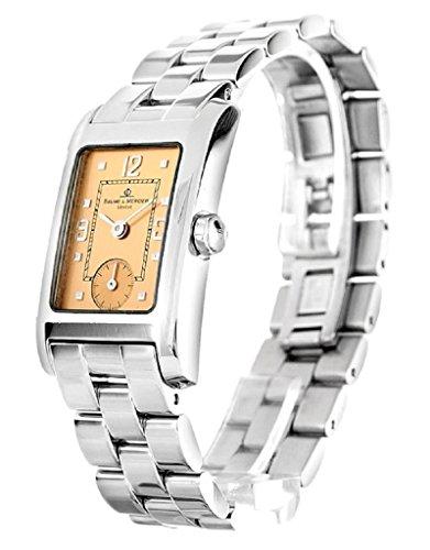 baume-mercier-classic-hampton-mvo45139-ladies-copper-dial-small-seconds-watch