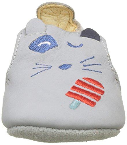 Catimini Plume - Patucos de Otra Piel Bebé-Niñas, multicolor ( Multicolore (Vte Gris-Raye Rouge Dpf/Souple)
