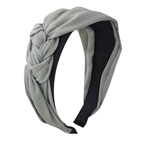Pengy Women's Boho Headbands Vintage Flower Printed Turban Boho Twisted Head Girl Wrap Yoga Hair Band -