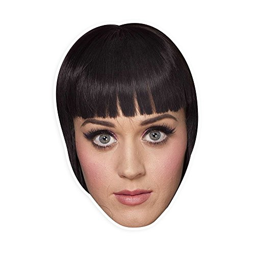"[Angry Katy Perry Mask by RapMasks - 12"" x 9"" Waterproof Laminated] (Katy Perry Costumes For 10 Year Olds)"