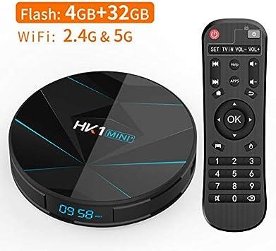 Yiwa HK1 Mini + Android 9.0 Smart TV Box RK3318 Caja Base para ...