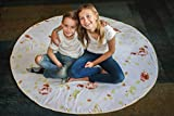 Tortilla Blanket - Soft Throw Blanket for Kids and Adults - Become a Burrito, Taco, or Tortilla - Fun Plush Blanket for Boys and Girls - Lightweight and Fuzzy for Comfort and Convenience
