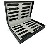 Shang Zun 20 Pcs Carbon Fiber Collar Stays with Box, 2 Size