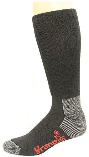 Wrangler Men's Steel Toe Boot Sock 2 Pair, Black, W 10-12/M ()