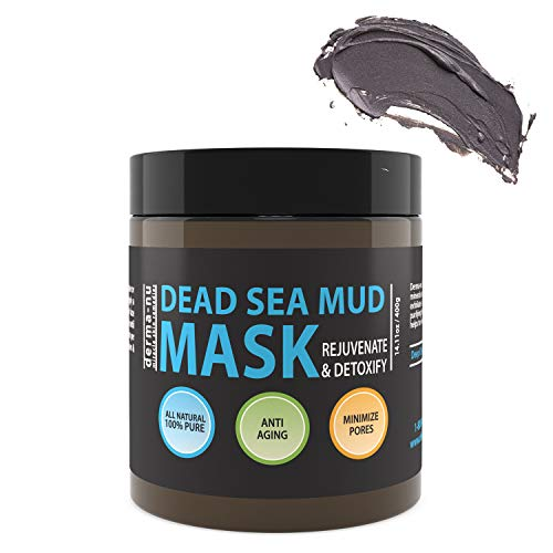 Natural Dead Sea Mud Mask - Face and Body - Organic Minerals - Rejuvenating and Detoxifying Minimizing Blackheads - Acne and Oily Skin - Pore Cleansing Anti-Aging Facial Mask - 400g