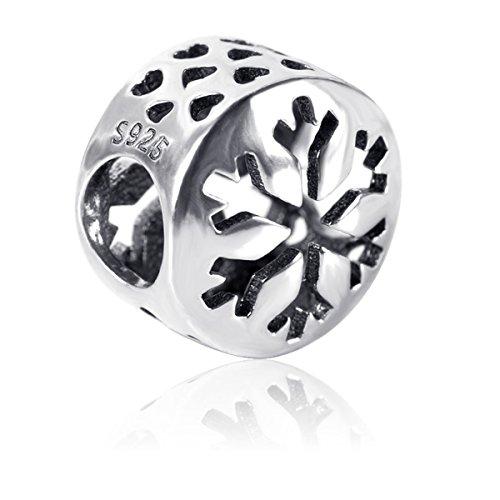 Snowflake Charm Beads, Twenty plus Fashion Christmas Charm Fit for Bracelets (Crystal Christmas Charm)