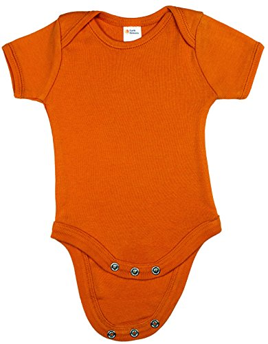 Earth Elements Baby Short Sleeve Bodysuit 3-6 Months Orange