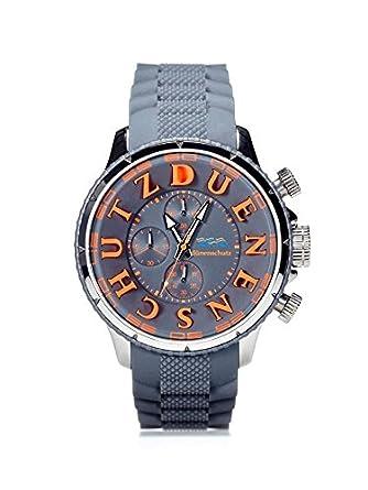 Herren Armbanduhr Grau Orange