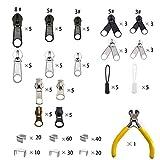 Meikeer 252 Pieces Zipper Repair Kit Replacement