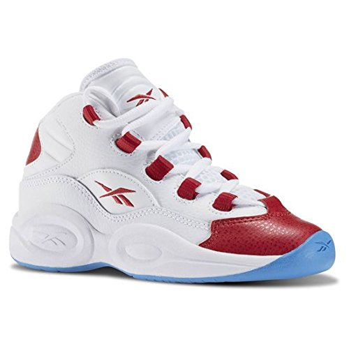 KID'S REEBOK QUESTION MID WHITE PRE-SCHOOL (11 M US Little Kid)