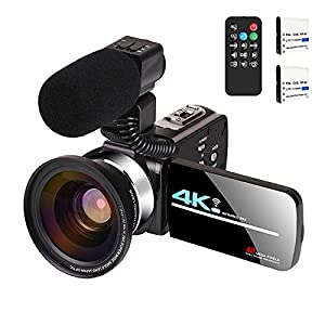 Flashandfocus.com 41rdDm%2BftvL._SS300_ Video Camera with Microphone 4K Camcorder for Live Streaming Webcam Video Recorder KOMERY 4K WiFi Camera 48MP 16X…