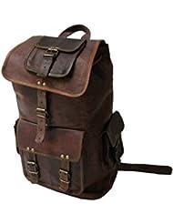 Vintage Leather Bazaar Real Goat Hide Rucksack Back Pack Leather Notebook Computer Bags & Cases Bag