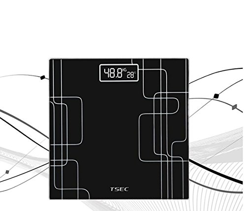 JMQ Weighing Scale Electronic Scales Human Body Weight Scale Voice Electronic Human Body Scale Measuring Temperature Multi - Function Electronic Scale , black