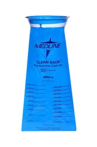 "Medline Blue Emesis Vomit Bag ""Clean Sack"" 1000ml Qty of 72 - NON80328"