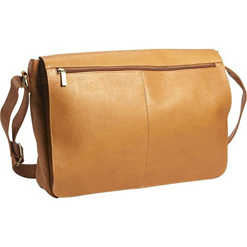 David King Leather East/West Full Flap Over Messenger Bag in -