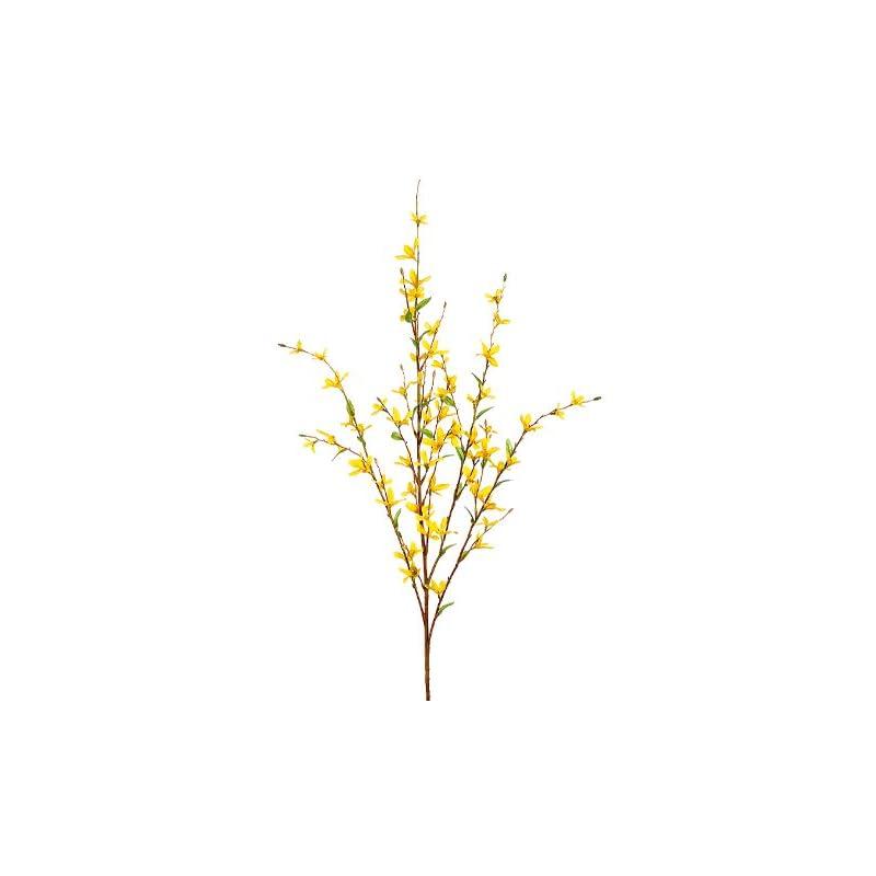 "silk flower arrangements 24 pieces 38"" forsythia artificial silk flower bendable sprays"