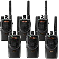 6 MagOne BPR40 By Motorola - UHF 4 Watt 8 Channel Radios(Black)