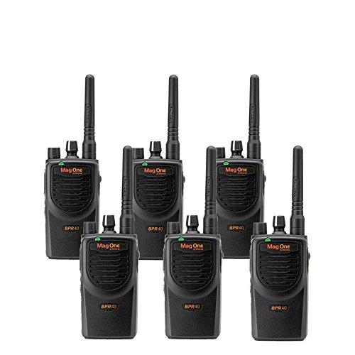 6 MagOne BPR40 By Motorola – UHF 4 Watt 8 Channel Radios(Black)