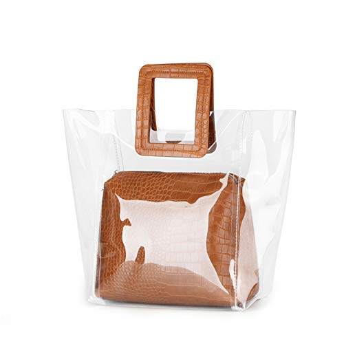 Pvc Fashion Bag - Barabum Classy Waterprof Clear Tote Beach Shoulder Crossbody Bag