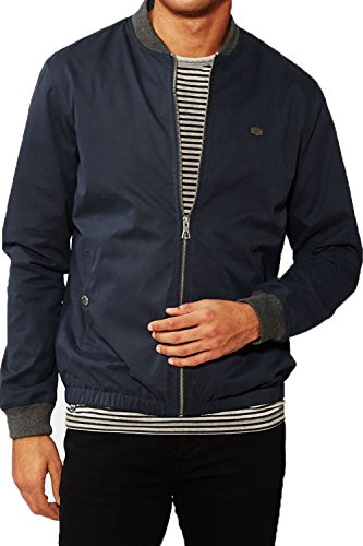 Blu Collare Bombardiere Ma1 Uomini Navy Baseball Giacca Leggero Cappotto Varsità Threadbare Maple wqSnIgvvF
