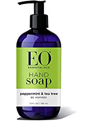 EO Botanical Liquid Hand Soap, Peppermint and Tea Tree, 12 Ounce (Pack of 3)