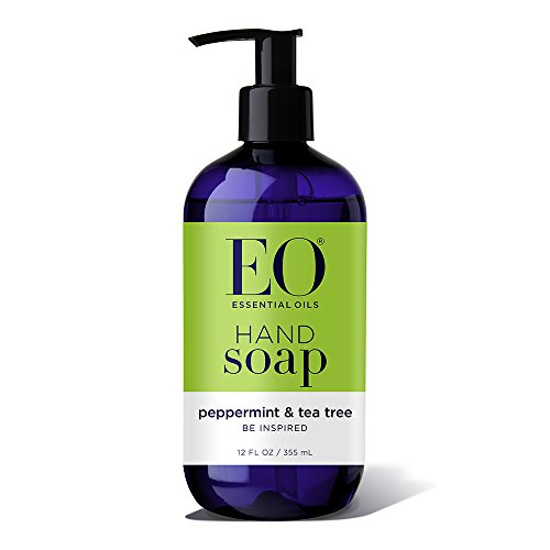 Liquid Oil Massage Peppermint - EO Botanical Liquid Hand Soap, Peppermint and Tea Tree, 12 Ounce (Pack of 3)