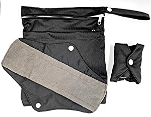 Sanitary Reusable Cloth Menstrual Pads by LuxmeCo| 5 Pack Washable Sanitary Napkins with Bamboo Charcoal Absorbency Layer Overnight Long Panty Liners for Comfort and Support Period Starter Kit W/Bag
