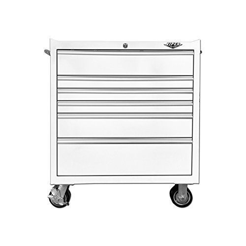Viper Tool Storage V3306WHR 33'' 6-Drawer Rolling Cabinet, White by Viper Tool Storage