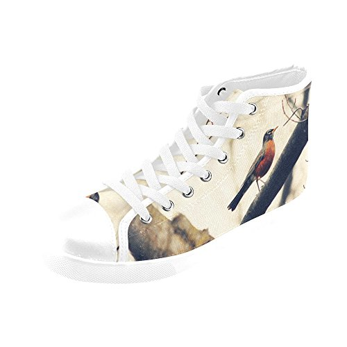 Artsadd Silhouette Blues High Top Canvas Shoes For Women(Model002) H1