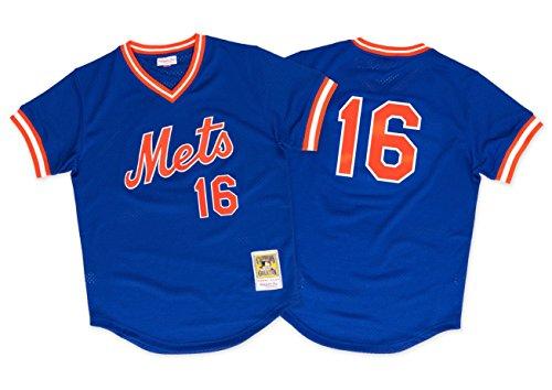 Throwback Baseball Jersey - Dwight Gooden Mets 1986 BP Jersey Mitchell & Ness (XXL/52)
