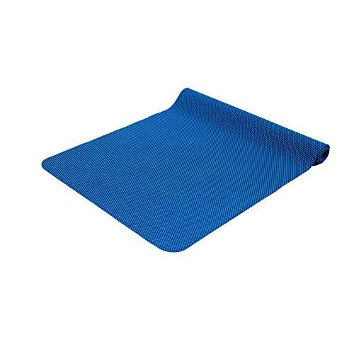 - Hyue 2mm Natural Gumshoe Yoga Mat Female Non-Slip Fitness Mat Towel Fragile Section Portable Folding Yoga Mat (Color : Blue)