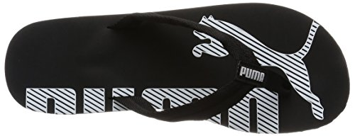 Adulte Noir Tongs V2 Puma black white Flip Mixte Epic SfwXZx