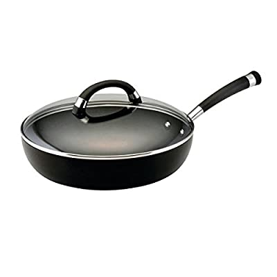 Espree Hard-Anodized Nonstick 12-Inch Covered Deep Skillet, Black