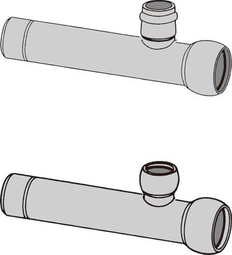 下水道関連製品>下水道継手>枝付管 自在ゴム輪受口枝付管 TR-F TR250F-150RX1000L Mコード:75423 前澤化成工業 B079BNFJDJ