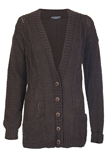 Manches Longues Cable Fast Tricot Papy Fashion Cardigan qw1tXpI