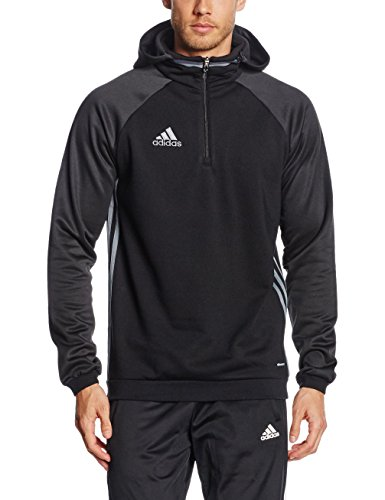 Adidas Men's Hoodie Condivo 16 Fleece (S, Black/Vista Grey)